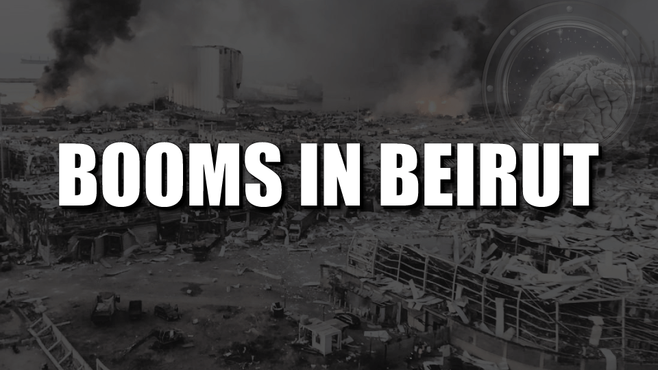 Booms in Beirut