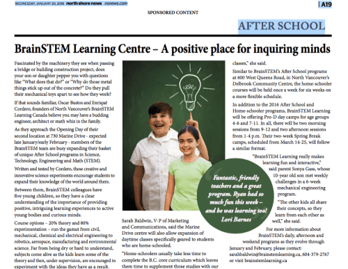 STEM Learning Centre-A positive place for inquiring Minds