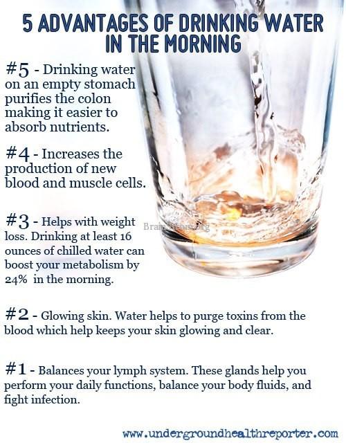 5AdvantagesToDrinkingWaterFirstThing