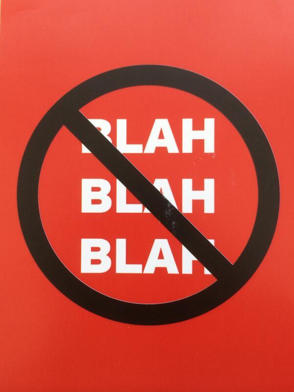 Das Wort zum Sonntag: Blah Blah Blah