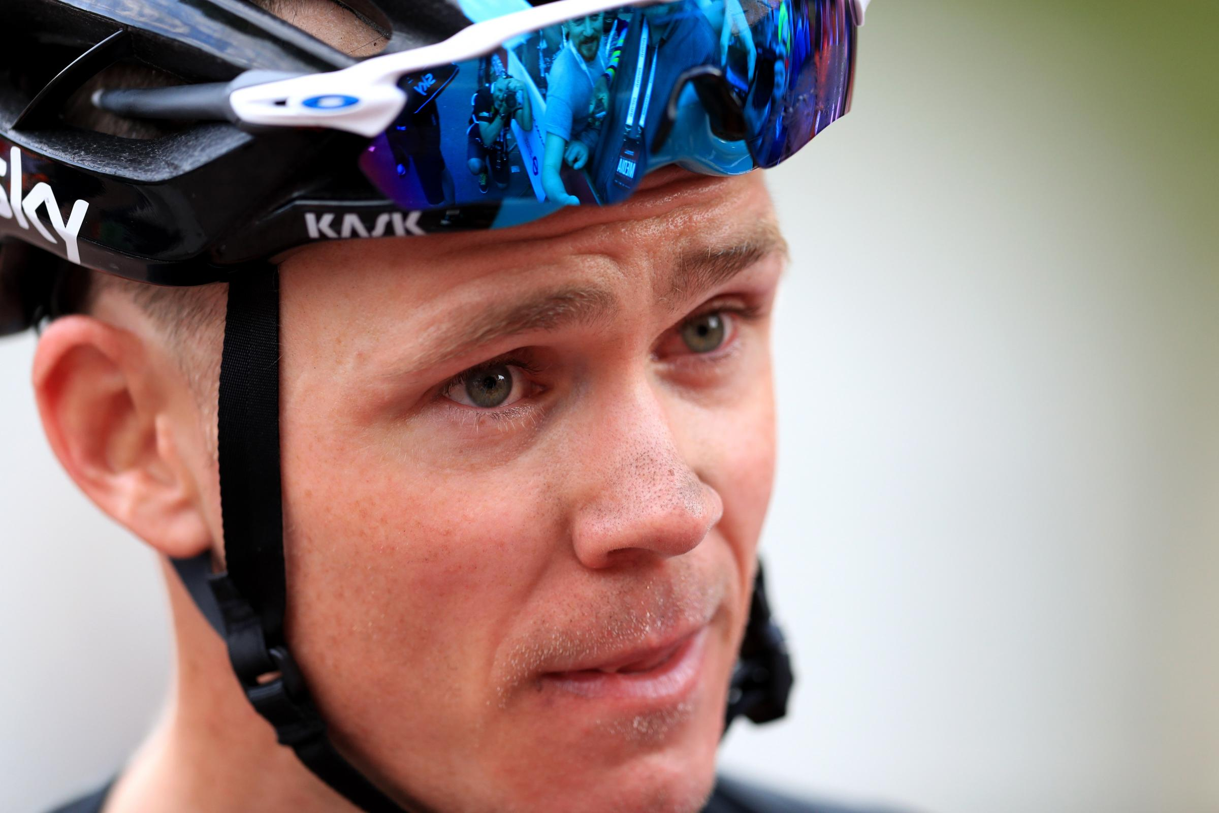 Резултат со слика за Chris Froome: Pat McQuaid says Briton's adverse drugs test is a 'disaster' for cycling