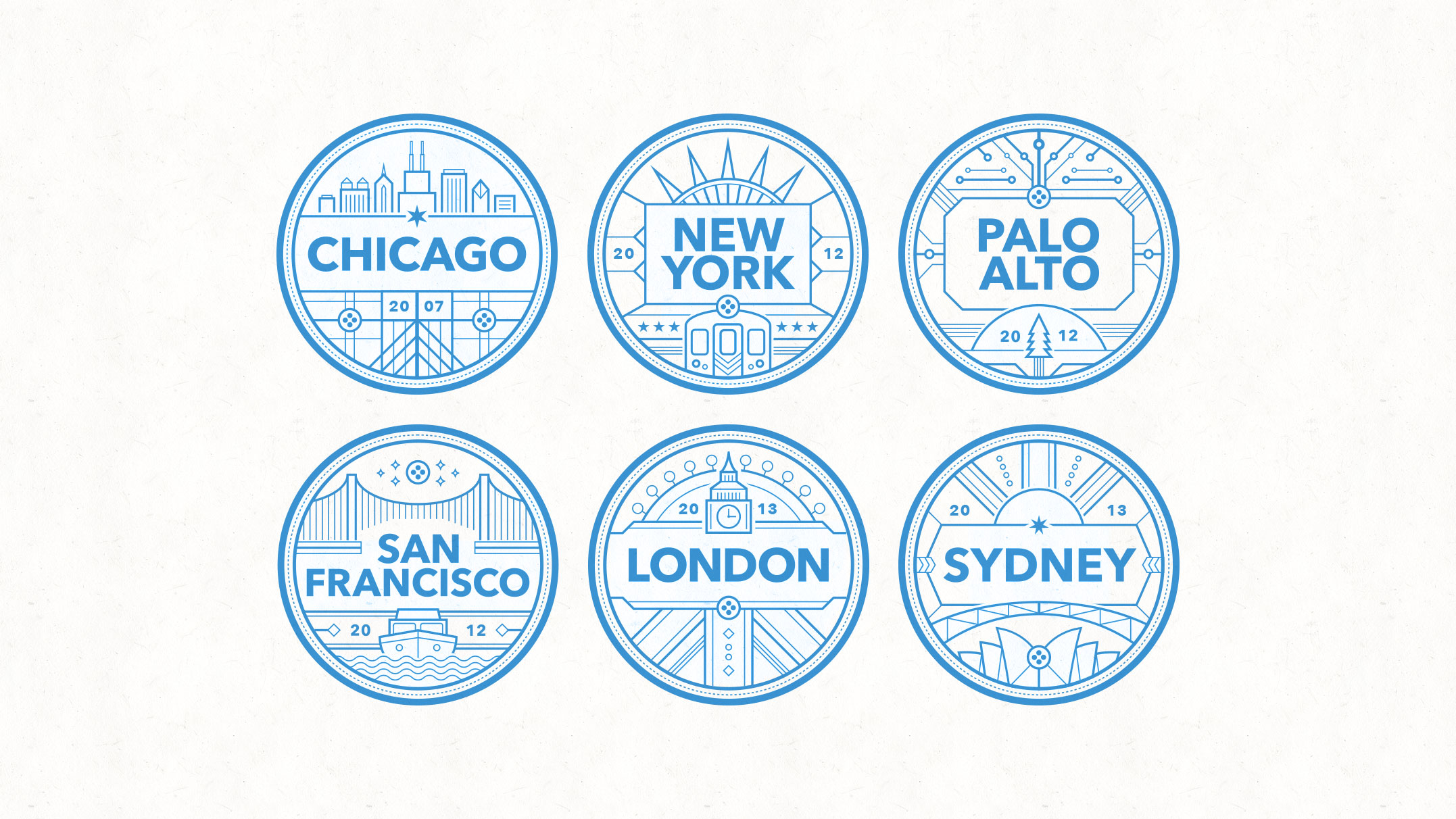 city badges the design