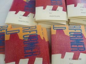 Letterpress Houdini Pamphlet