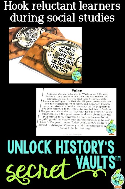 Instructional strategy for the middle school, high school, and homeschooling social studies classrooms. Engage students with little known facts or common misconceptions from history. Can also be used as table talks or bell ringers.