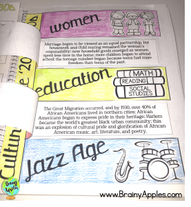 social studies & history interactive notebook activities for middle school, high school, and homeschoolers. #brainyapples #interactivenotebook #socialstudies #history #middleschool #highschool