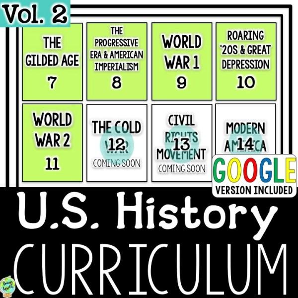 US History Curriculum Vol. 2