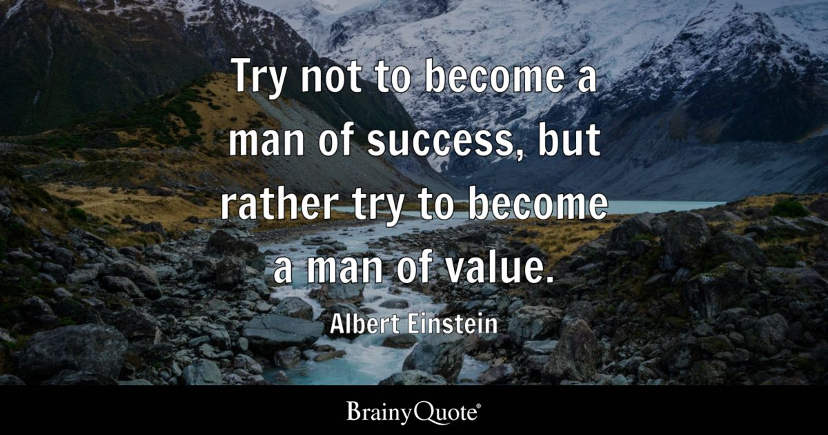 Cute Funny Wallpapers For Lazy Peopke Albert Einstein Try Not To Become A Man Of Success But