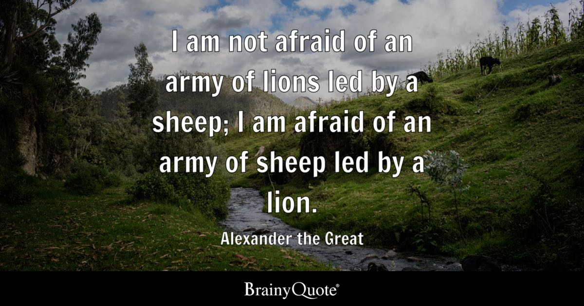 Motivational Wallpaper Quotes Kobe Alexander The Great I Am Not Afraid Of An Army Of Lions