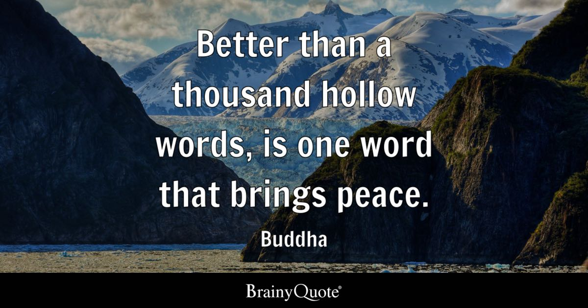 Men Quote Wallpaper Better Than A Thousand Hollow Words Is One Word That