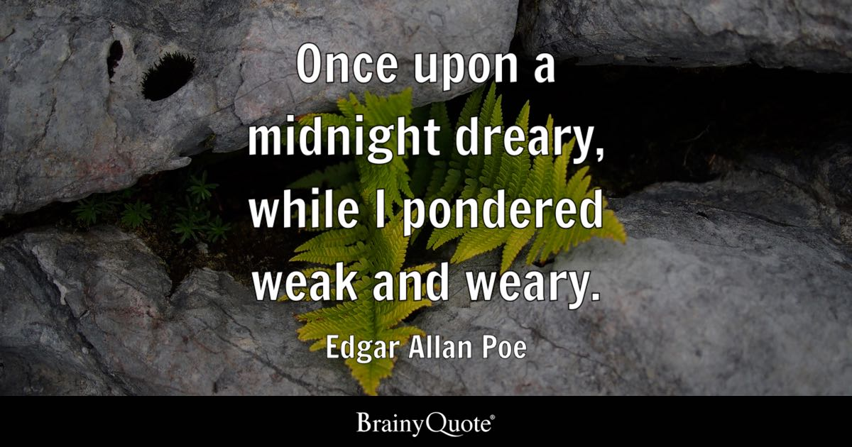 Cute Wallpapers With Quotes Hindi Edgar Allan Poe Once Upon A Midnight Dreary While I