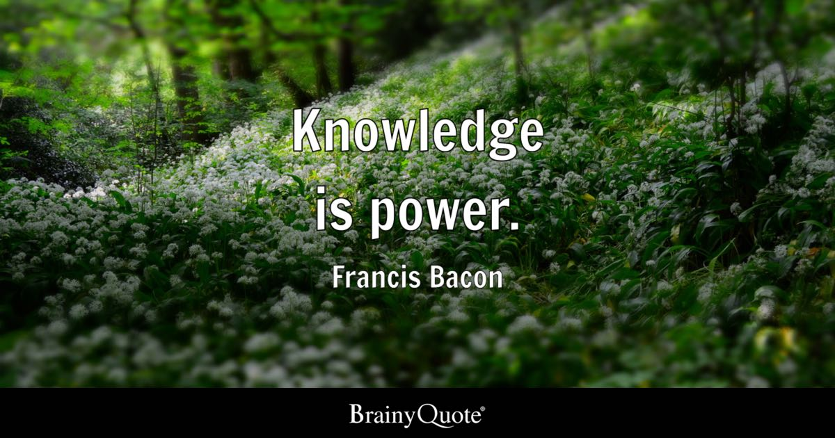 francis bacon knowledge is
