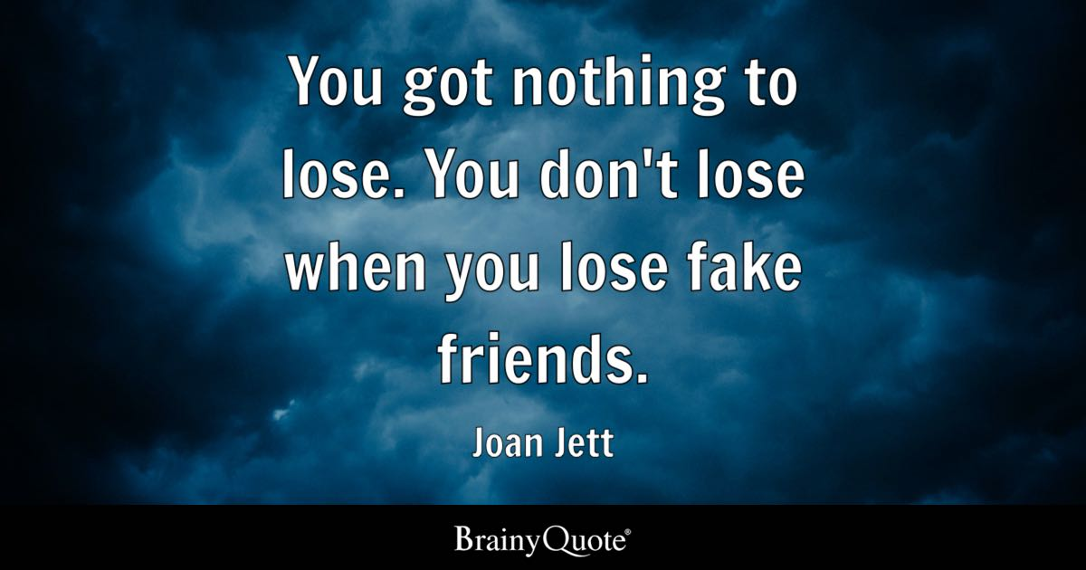 Joan Jett You Got Nothing To Lose You Don't Lose When