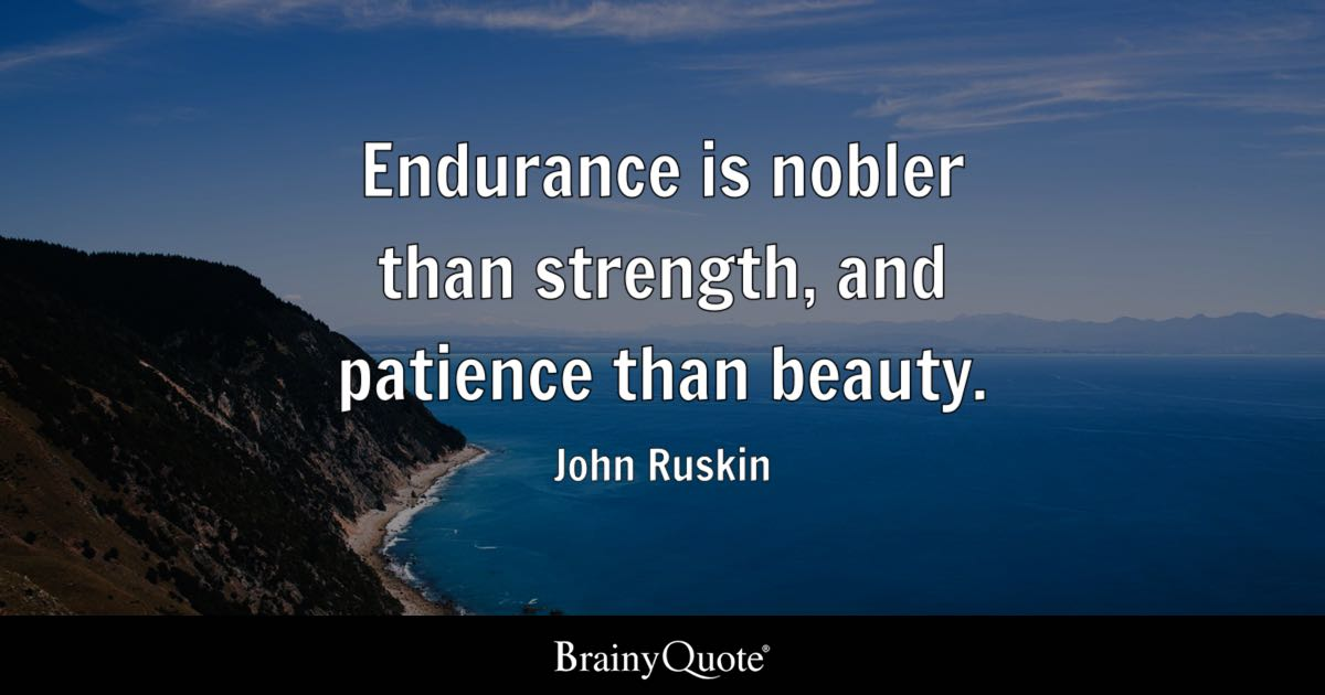 Passion Wallpaper Quote Endurance Is Nobler Than Strength And Patience Than