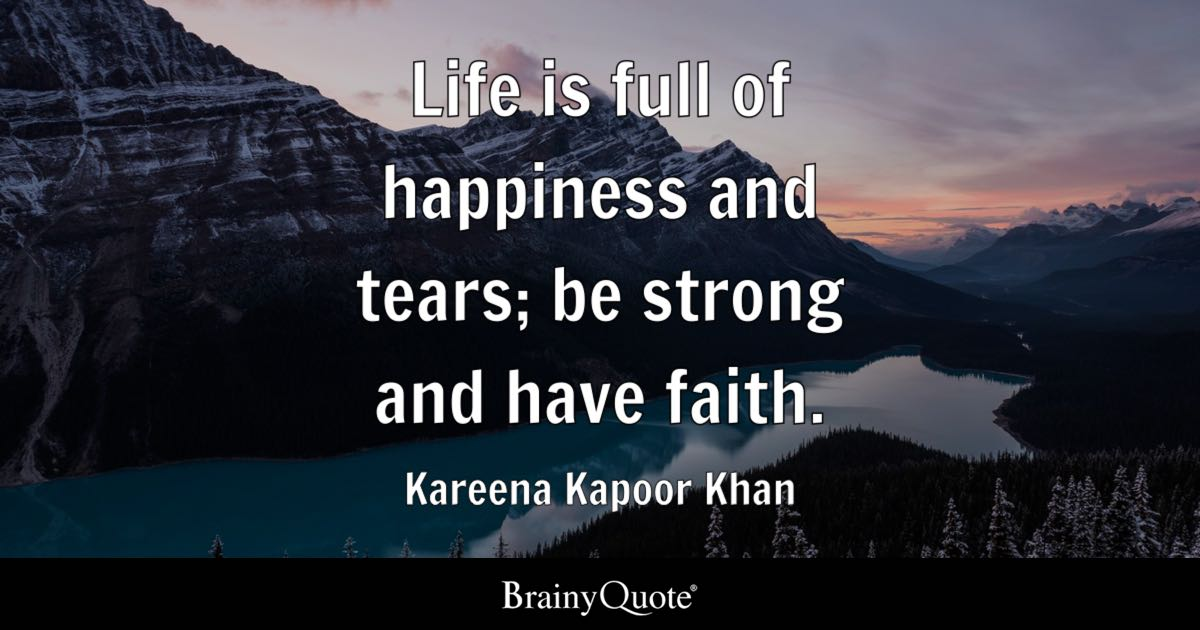 Gym Quote Iphone Wallpaper Kareena Kapoor Khan Life Is Full Of Happiness And Tears