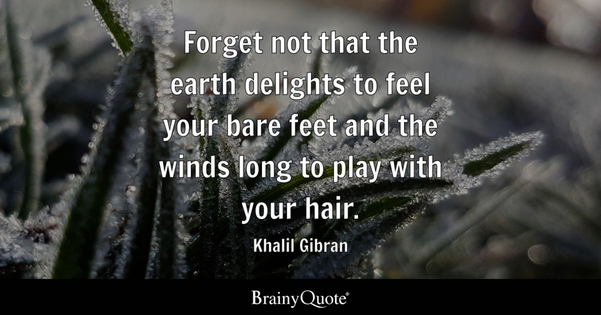 Khalil Gibran Forget Not That The Earth Delights To Feel