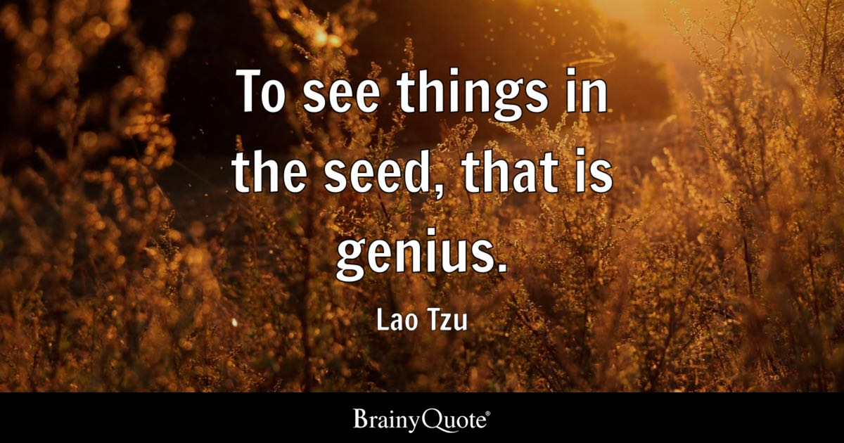 Socrates Wallpaper Quotes To See Things In The Seed That Is Genius Lao Tzu