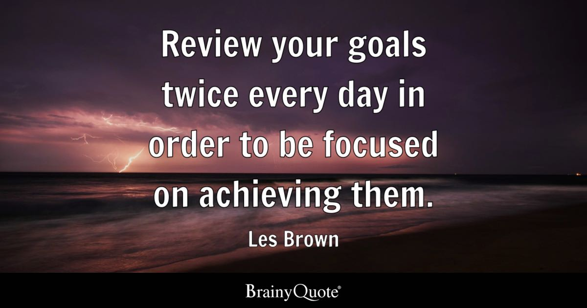 Never Change Attitude Quotes Wallpapers Les Brown Review Your Goals Twice Every Day In Order To