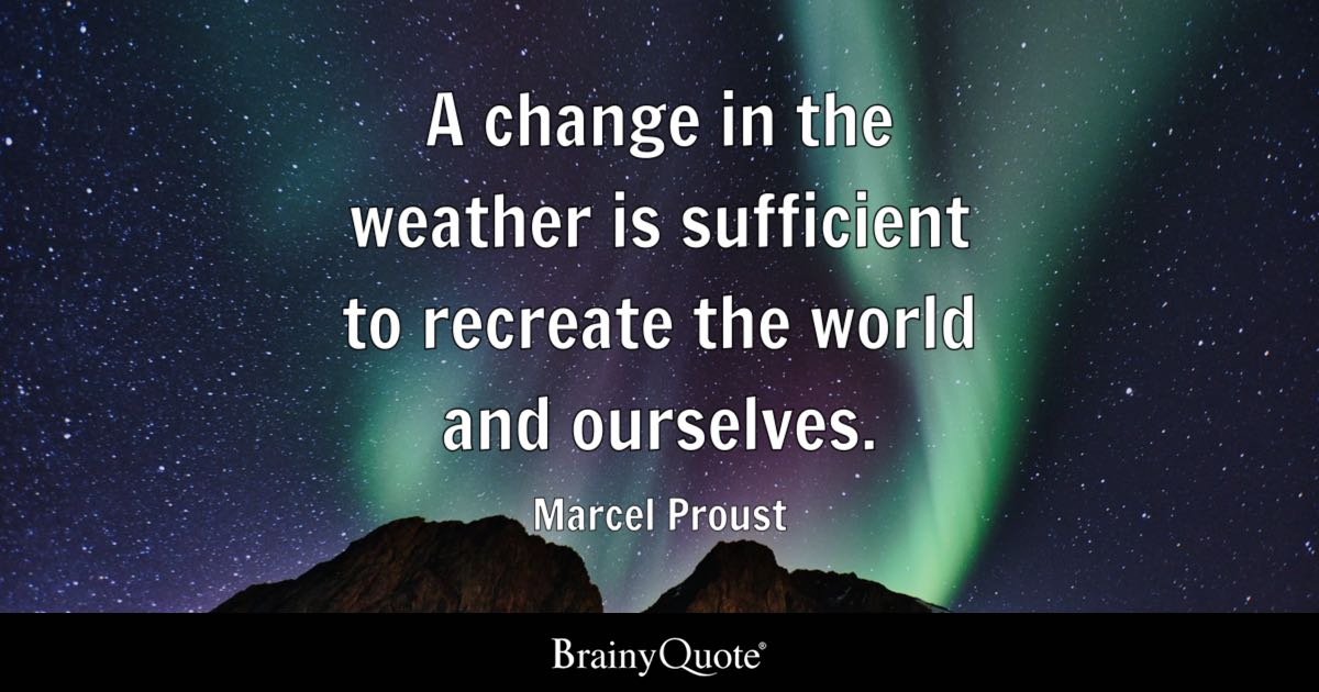 Bible Quotes Wallpaper Hd Marcel Proust A Change In The Weather Is Sufficient To