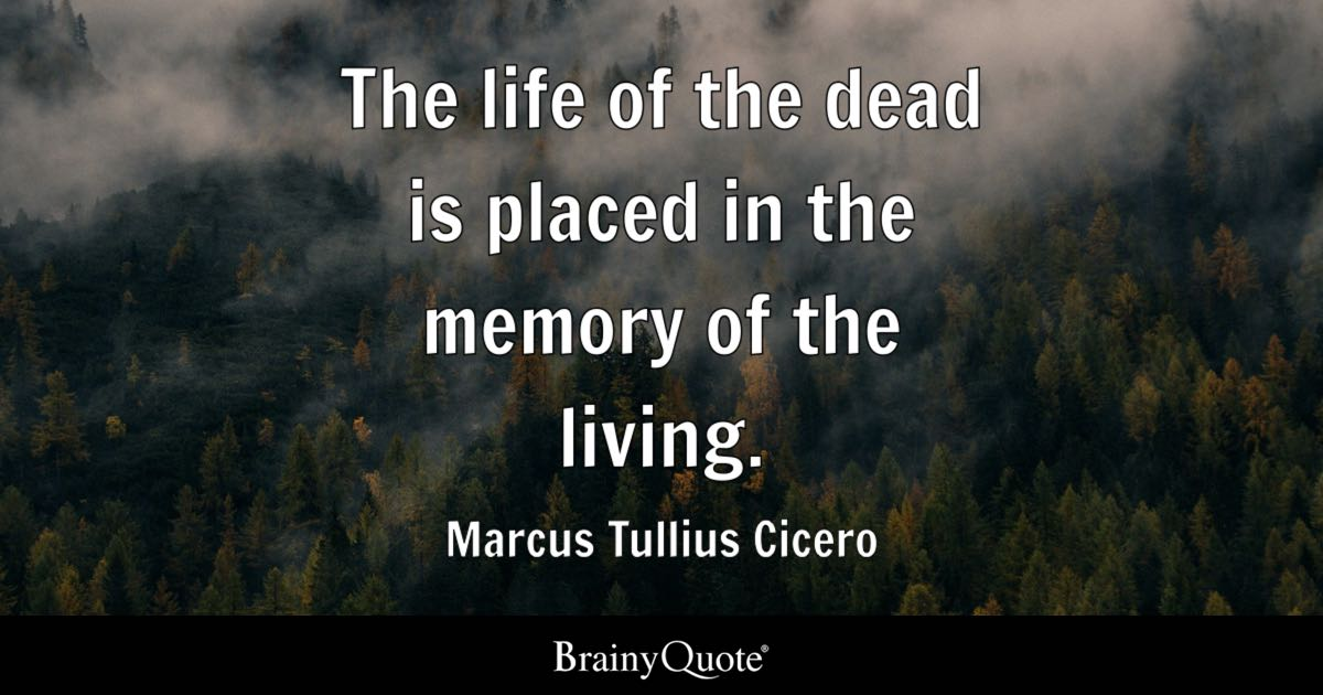 Bible Quotes In Tamil Wallpaper Marcus Tullius Cicero The Life Of The Dead Is Placed In