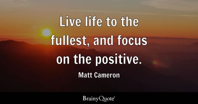 Matt Cameron Live Life To The Fullest And Focus On The