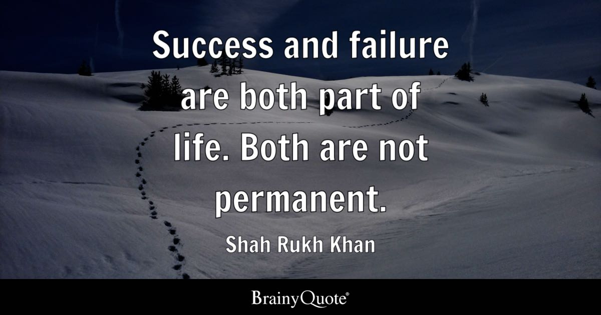 Shah Rukh Khan Success And Failure Are Both Part Of