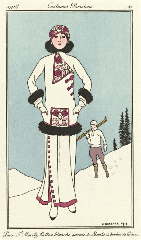 Journal des Dames et des Modes, Costumes Parisiens, 1913, No. 51 : Pour St. Moritz..., Anonymous, 1913
