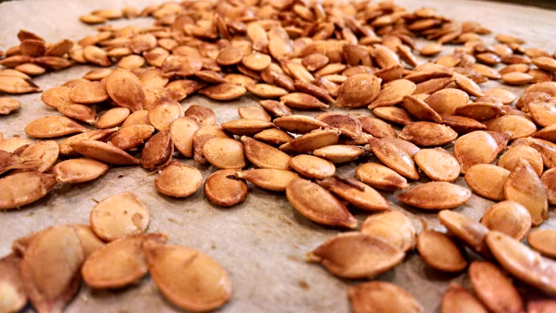 [image: roasted pumpkin seeds]