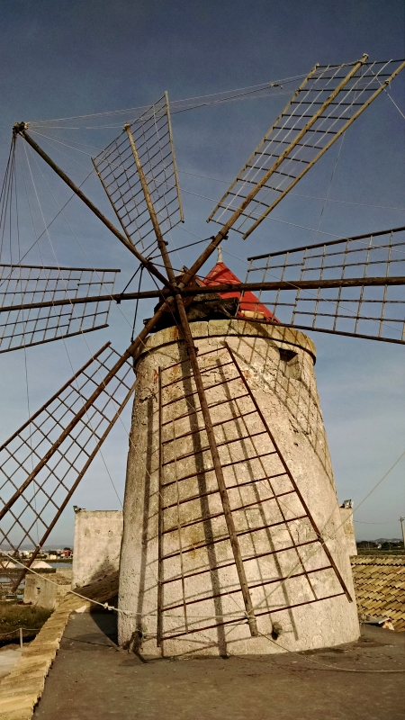 [image: windmill atop the salt museum in trapani]
