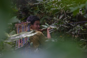 Spending time hunting wild boar with the locals in Borneo