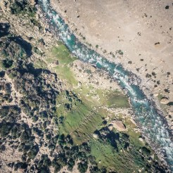 Glacial Rivers are the main water source.