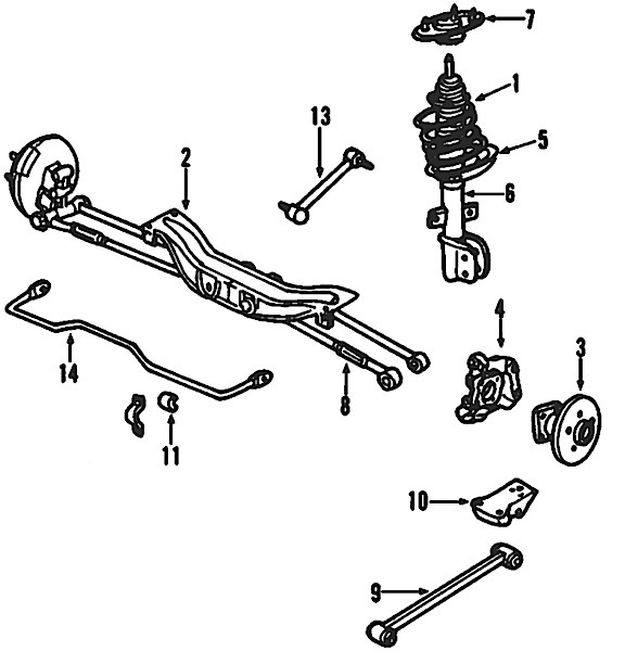Ford Ranger Front End Suspension Diagram, Ford, Free