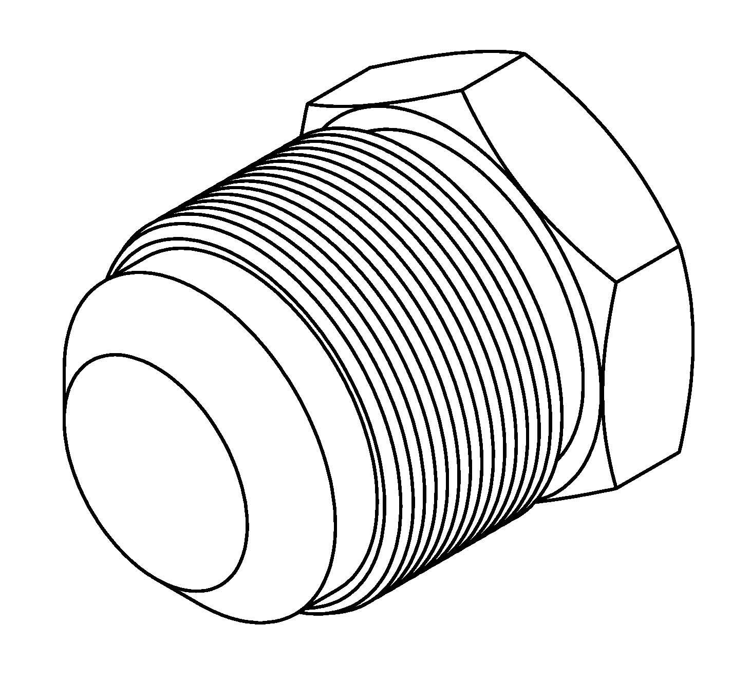 Brakequip Bq174 Weld On Fitting 1 1 16 X 14nf 3 4 Tube Alum