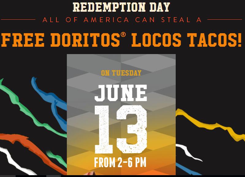 Free tacos at Taco Bell