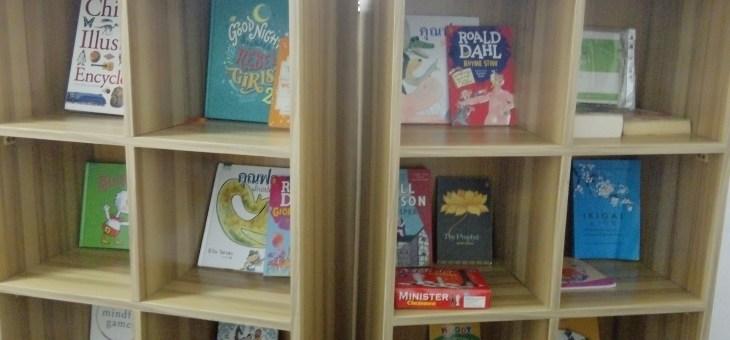Donated Bookshelves and Table by Tenposs Ltd