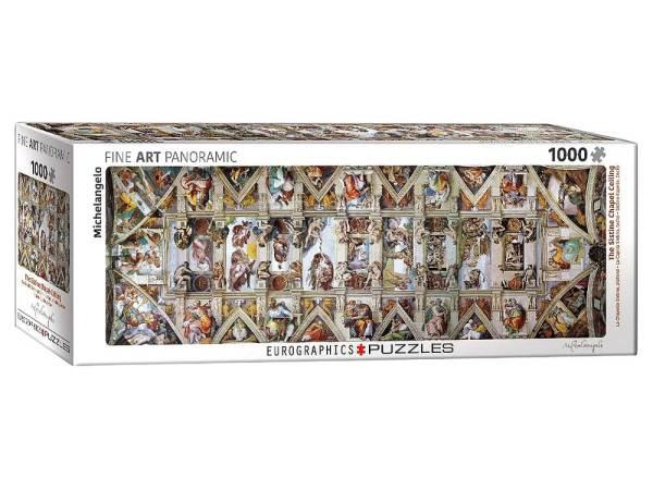 Sistine Chapel Ceiling 1000 pc Panorama Puzzle