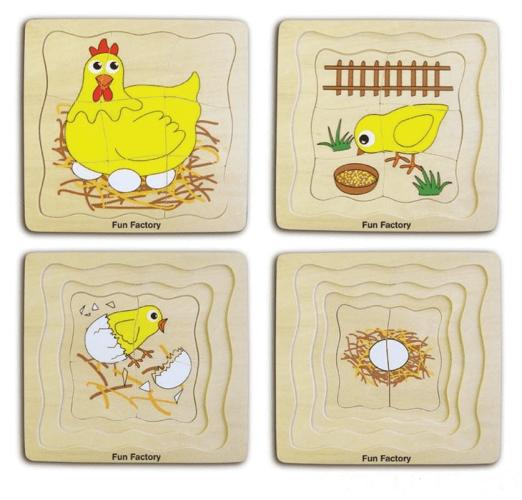 Chicken Layer Wooden Puzzle