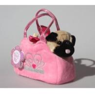 Pug in Crown Bag