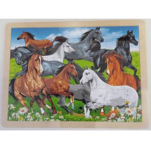Horses Wooden Puzzle