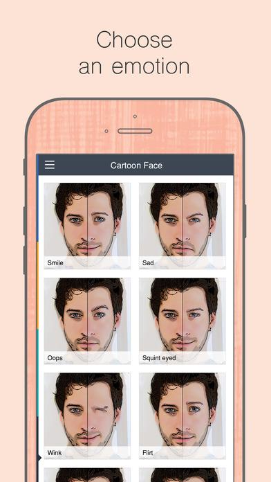 الوجه الكرتون - Cartoon face