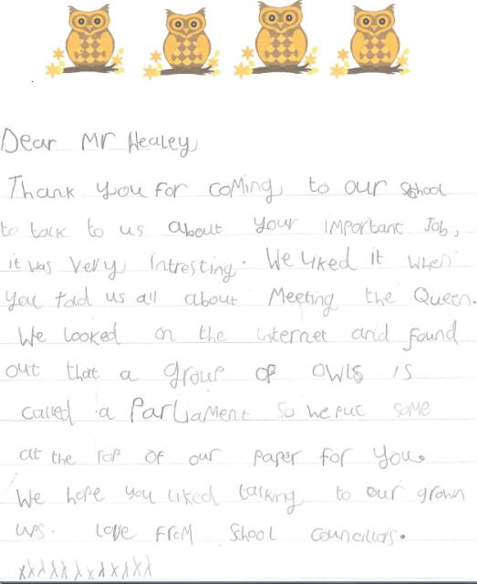 Letter to John Healey