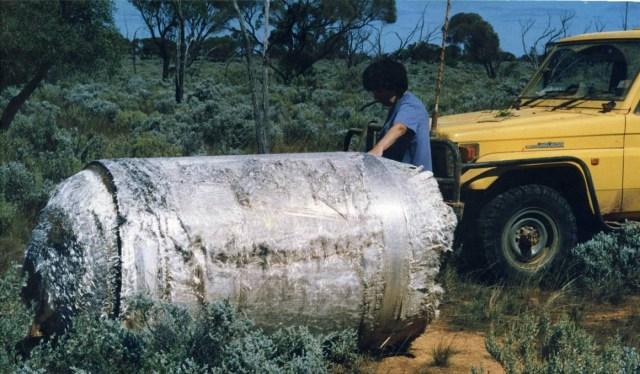 Destroços da Skylab que caíram na Austrália em 1979 - fonte: 17qq.com