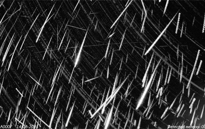 449 meteoros registrados pela estação de monitoramento RMS CA0007 no Canadá - Créditos: Global Meteor Network
