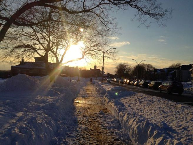 Snowy Sunset Southie