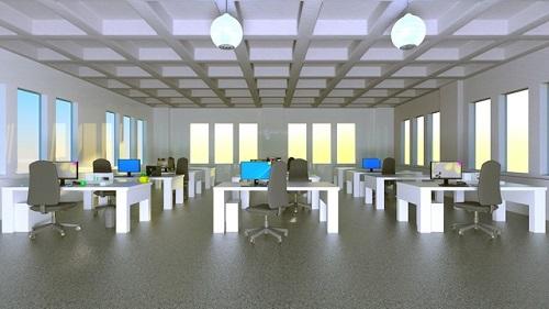 オフィスのコンピュータグラフィックス