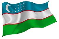 ウズベキスタンの国旗のイラスト