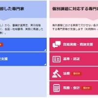 JETROの専門家支援サイトの画面