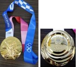 東京五輪レプリカメダルの写真