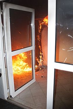 Brnde im Treppenhaus  BrandFeuerde