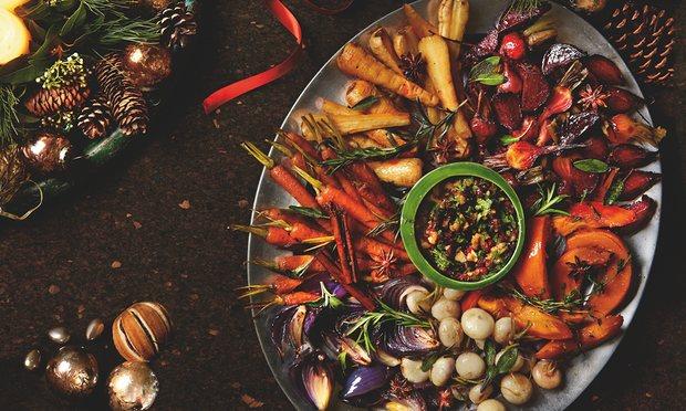 Yotam Ottolenghi's roast winter vegetable platter