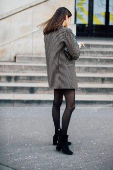 street style check blazer